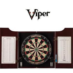 NEW VIPER HUDSON DART CENTER All-in-One - DARTBOARD - DART BOARD - SOLID PINE CABINET 108785637