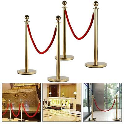 Gold Hook;Orange Rope NovelBee 2 Pack of 6.6 Feet Velvet Rope with Stainless Steel Hooks,Crowd Control Stanchion Post Queue Line Barrier