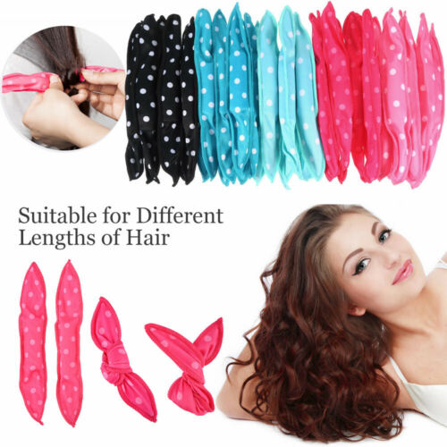 20PC Hair Rollers Soft Foam No Heat Hair Roller Curler Sleep Pillow Satin Sponge Hair Care & Styling
