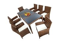 9 Piece Dining set Rattan new,boxed garden/conservatory