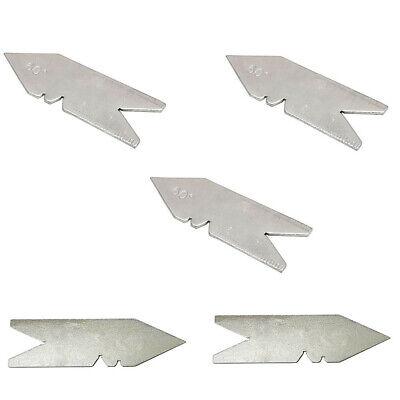 5 Pc 60 Degree Center Gage Fishtail Thread Gauge Lathe Tool