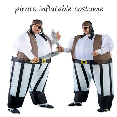 Free Adult Mascot Movie Pirate Inflatable Costume Cosplay Halloween Funny Dress - Pirate Adult Movie