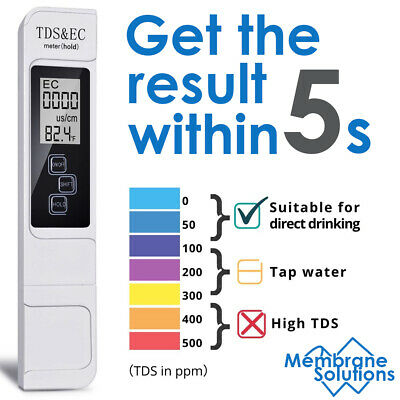 Tds Ppm Meter Digital Tester Home Drinking Tap Water Quality Purity Test Tester