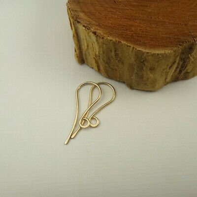 Gold Fill Earwires - Gold Filled French Ear Wires - Hammered Ear Hooks - Earwires - Earring Findings