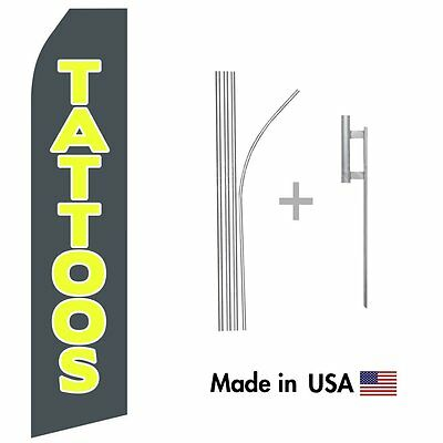 Tattoos Econo Flag 16ft Advertising Swooper Flag Kit With Hardware