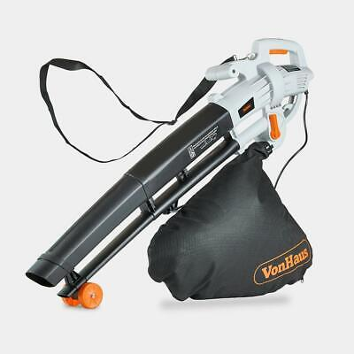 Vonhaus 3000W Leaf Blower 3-In-1 - Blows, Vacuums And Mulches Leaves 35L Bag