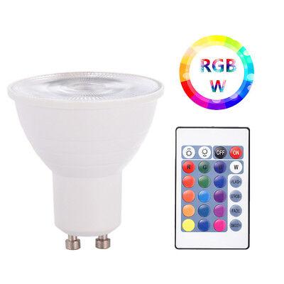Led-spot-licht (E27 GU10 5W 16 Farbwechsel RGB RGBW LED Spot Licht Light Lampe IR Fernbedienung)