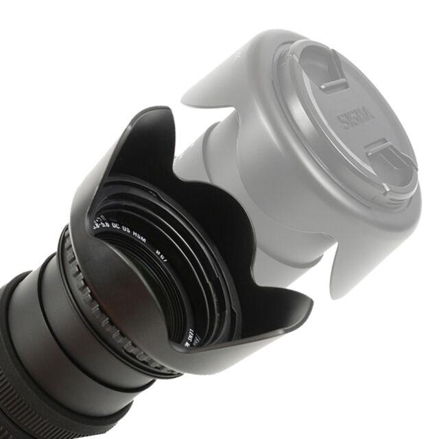 Bajonett Gegenlichtblende Sonnenblende reversible Lens Hood 77 mm