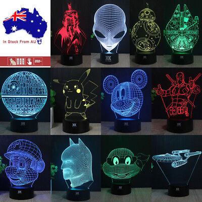 3D Star Wars BB8 Death Star Table Desk Lamp LED Night Light Remote Model Gifts