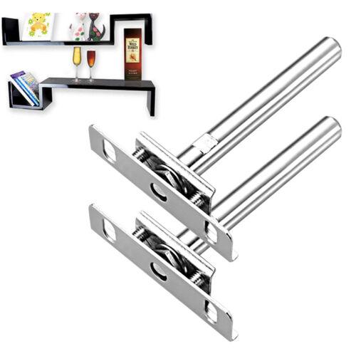 """5/"""" Concealed Shelf Steel Metal Strong Support Brackets Hidden Floating 8 16pcs"""