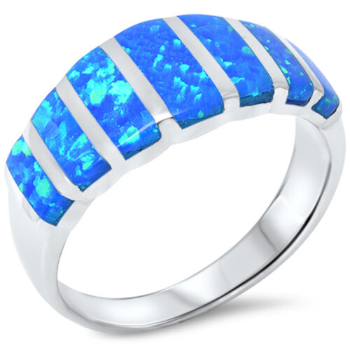Blue Fire Opal  .925 Sterling Silver Ring Sizes 4-13