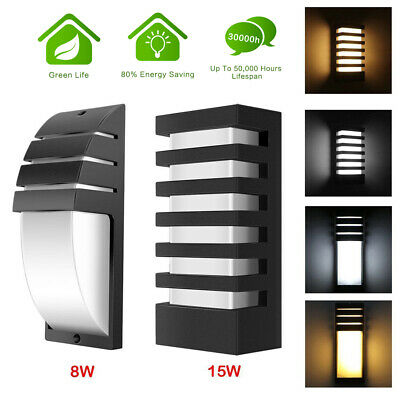 - 15W LED Wall Sconce Modern Porch Light Wall Lamp Indoor Outdoor Light Fixture US