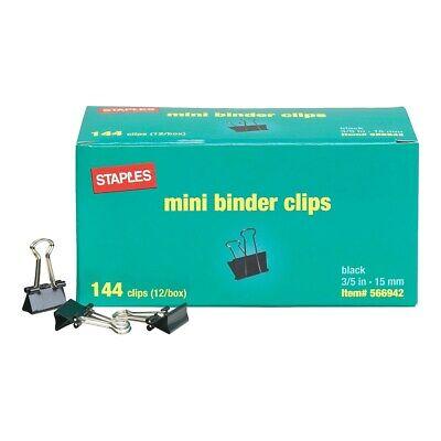 - Staples Mini Metal Binder Clips Bulk Pack Black 3/5