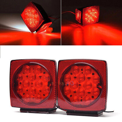 Pair LED Submersible Square Lights Trailer Under 80