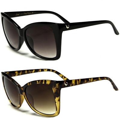 Retro 50s Vintage Style Women Leopard Fashion Large Cat Eye Sunglasses (Leopard Sunglasses)