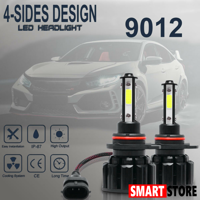White 2pcs H4 Car LED Headlights Bulbs 36W 8000LM Hi//Lo Beam Auto Headlamps Conversion Kit 6000K
