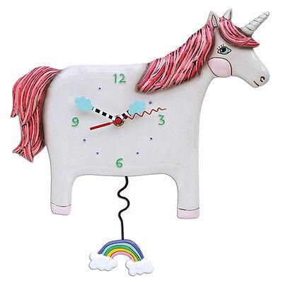 Allen Designs Buttercup Unicorn Pendulum Wall Clock