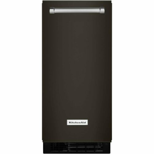 KitchenAid 15'' 50-Lb. Built-In Icemaker Black Stainless KUIX505EBS
