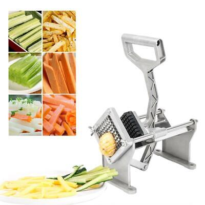 "3/8"" Blade Stainless Steel Kitchen Slicer French Fry Vegetable Potato Cutter"