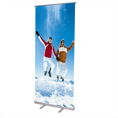 Retractable 33x79 Roll Up Banner Stand Trade Show Sign Signage Display W Bag