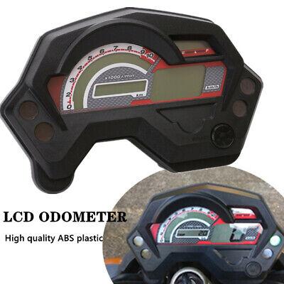 12V Motorcycle LCD Digital Display Gauge Speedo/Tacho/Odo Meter Km/h Multi-use