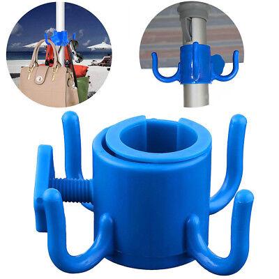 Beach Umbrella Outdoor Patio Hanging Hook Holder for Towels Bags Hats -