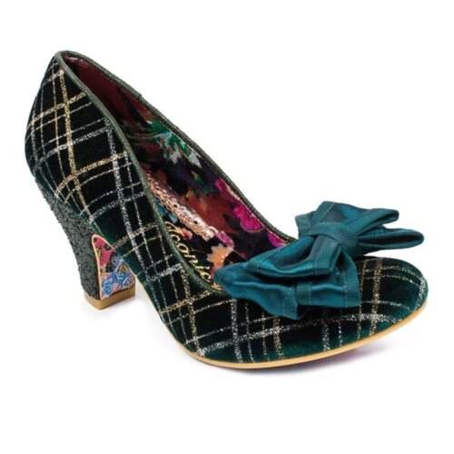 d0b46c1a8e7 Irregular Choice Ban Joe 4255-01S Womens Court Shoes - Green/Silver