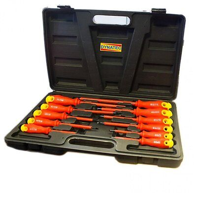 Electrician Screwdriver Set Tool Electrical Fully Insulated 11 Pc Piece Kit Case