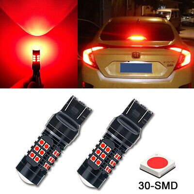 Strobe/Flashing Red 30-LED Replacement Bulbs For Honda Civic Brake Tail Lights