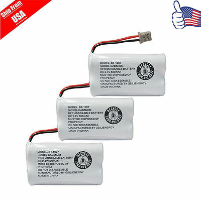 Replacement Battery for Uniden DECT 6.0 BT1007 BT-1007Cordless Phone 3-PACK USA