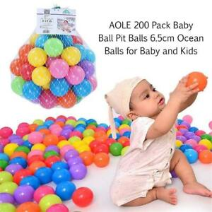 NEW AOLE 200 Pack Baby Ball Pit Balls 6.5cm Ocean Balls for Baby and Kids [BPA Free] [Crush Proof] [10 Colors] Ball P...