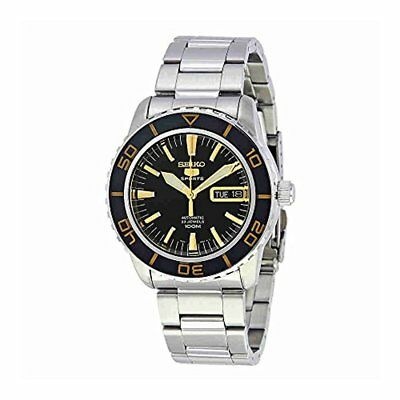 Seiko Men's Seiko 5 Automatic Black Dial Stainless Steel Watch SNZH57