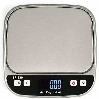 Digital Scale 500g x 0.1g Jewelry Gold Silver Coin Gram Pocket Size Herb Grain