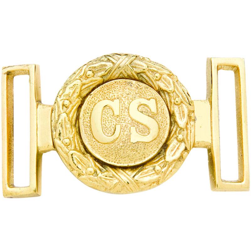 Confederate Officer Brass Belt Buckle