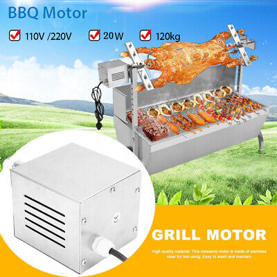 BBQ Barbecue Automatic Eletric Motor Rotisserie Roast 120KG 220V Stainless Steel