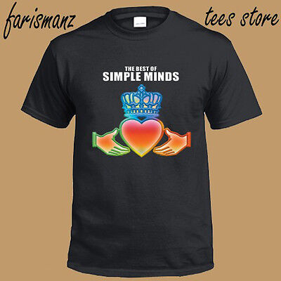New Simple Minds Rock Band Logo *The Best of Men's Black T-Shirt Size S to (Best Rock Band Logos)