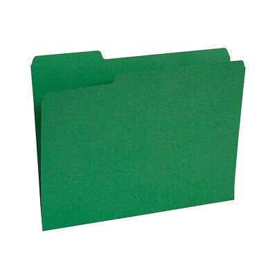 Staples Colored Top-tab File Folders 3 Tab Green Letter Size 100pack 224543