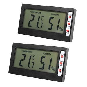 2PCS LCD Digital Thermometer Hygrometer Luftfeuchtigkeit Messer Wetterstation