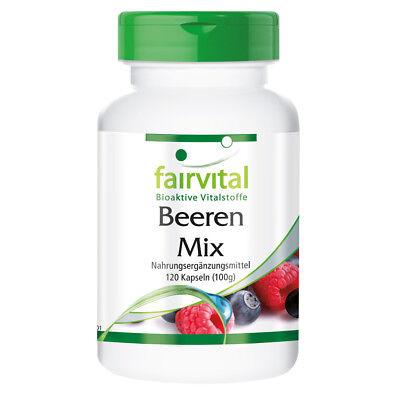 Antioxidantien Kapseln Beeren Mix   8 Beeren mit Spirulina   VEGAN    fairvital