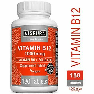 Vitamin B12 1000 Mcg Methylcobalamin + B6/Folic Acid Best Supplement 2DAY (Best Vitamin B12 Methylcobalamin)