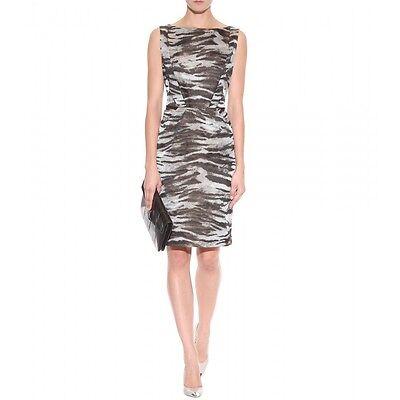 Authentic Lanvin Animal Zebra Jacquard Sheath Dress dress Size 36 $2995