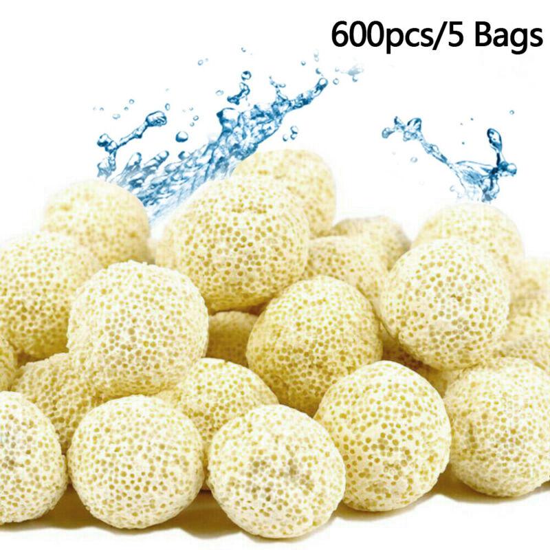 600pcs Aquarium Filter Media 21mm Bio Ball Bacteria House Filtration Media 60oz