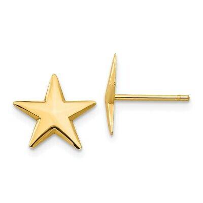 14k 14kt Yellow Gold Nautical Star Post Earrings 11 mm 14k Gold Post Nautical Earrings