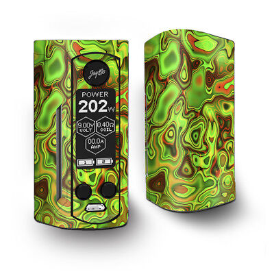 Skin Decal for Wismec Reuleaux RX Gen3 Dual Vape / green glass trippy psychedel