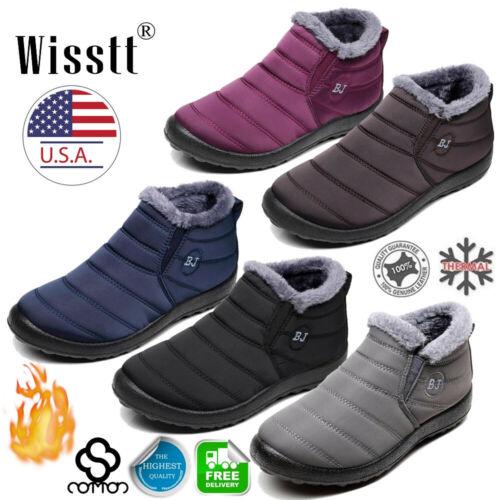Women's Winter Snow Ankle Boots Fur Lined Waterproof Outdoor