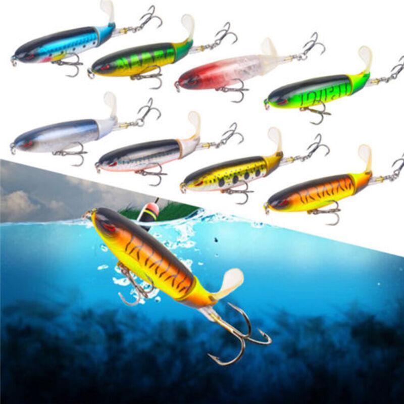 1 X Plopper Angelköder Topwater Rotierenden Schwanz VMC Haken Bass Fischköder