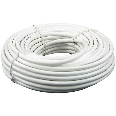 100 Feet Cat 3 Telephone Phone Cable 6 Wire 3 Pair 24 Awg Solid Copper White