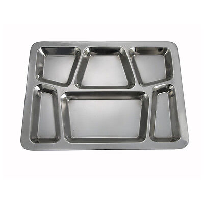 Winco Smt-2 15.8x11.7x08-inch Stainless Steel Mess Tray With 6 Compartments St