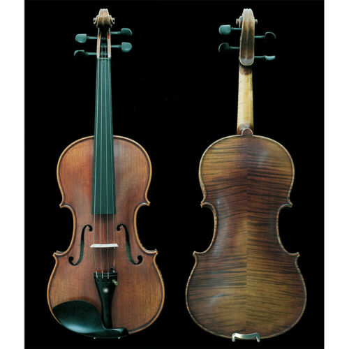 Professional Hand-made 4/4 Size Acoustic Violin TWO Piece Back Antique Style