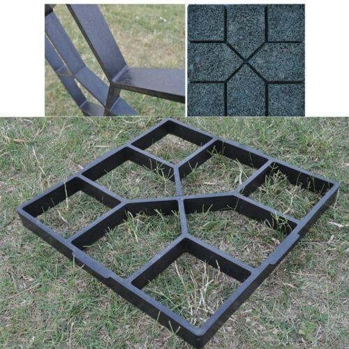 Garden Walk Pavement Path Paving Mold DIY Cement Brick Stone Road Maker Molds